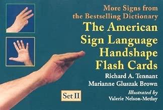 American Sign Language Handshape Flash Cards: Set II