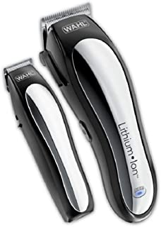 لیزر لیتیم یون Wahl باتری های قابل شارژ قابل شارژ برقی و ترممرس برای مردان، کیت برش مو با 10 شاخه راهنمای برند توسط نام تجاری مورد استفاده توسط متخصصان. # 79600-2101
