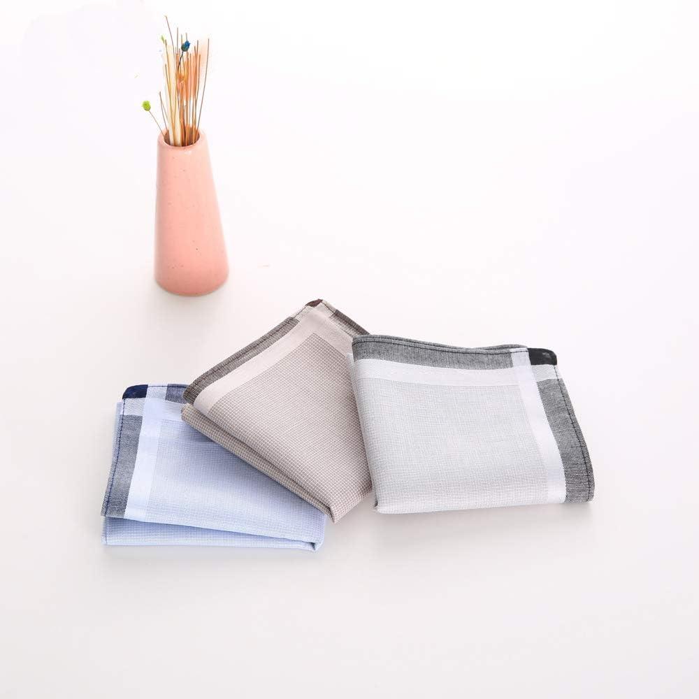 LONG WAY Handkerchiefs Cotton Soft Thick 17x 17 in Handkerchiefs Bulk Cotton 5 Pack Hankies for Men,Women's