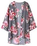Zexxxy - Kimono de verano en gasa para mujeres, con mangas d