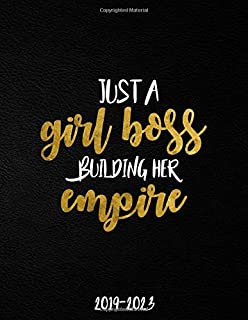 Just A Girl Boss Building Her Empire 2019-2023: Black & Gold 5 Year Planner with 60 Months Spread View Calendar. Pretty Five Year Agenda, Organizer, Journal, Schedule Notebook and Business Planner.