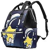 WJJSXKA Mochilas Bolsa de pañales Laptop Notebook Mochila de viaje Senderismo Daypack para Mujeres Hombres - way to stars vector set