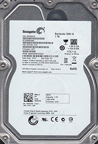 ST31000524AS, 6VP, SU, PN 9YP154-519, FW JC47, Seagate 1TB SATA 3.5 Festplatte