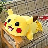 Pikachu lindo muñeco de peluche de juguete, almohada de Pikachu suave cojín de cintura de peluche de felpa
