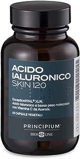 BIOS LINE Principium Acido Ialuronico Skin 120, Integratore collagene vegano con acido ialuronico e vitamina c, Integrator...