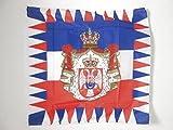 AZ FLAG Flagge KÖNIGLICHE STANDARTE VON JUGOSLAWIEN 1918-1945 90x90cm - JUGOSLAWISCHE Fahne 90 x 90 cm Scheide für Mast - flaggen Top Qualität