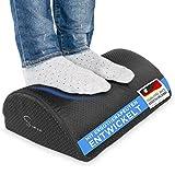 Siava Reposapiés/Almohadilla Apoya pies Recubrimiento Antideslizante, ergonómico, para Oficina y hogar