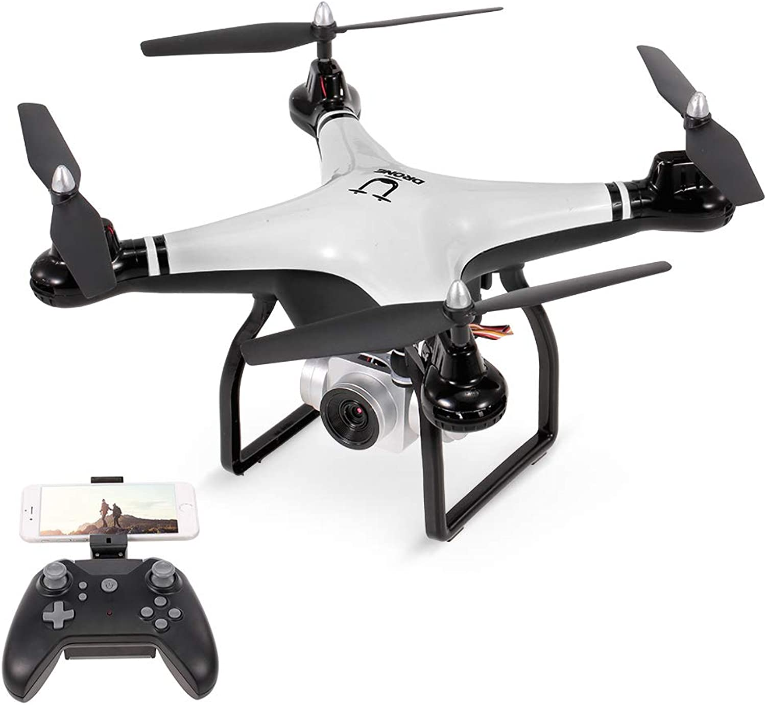 Goolsky Utoghter 69608 90° Adjustable Angle 720P Camera Wifi FPV 22mins Flying Time Drone Altitude Hold One Key Return Voice Control RC Drone Quadcopter Kids Gift Toy
