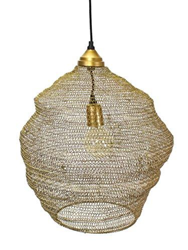 Bada Bing Hochwertige Große Hängelampe Queens Korb Gold Lampe Metallgeflecht Netz Deckenlampe Dekolampe Edel 38