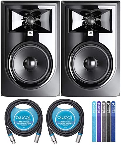 JBL Professional 306P MkII Next Generation 6 2 Way Powered Studio Monitors 2 Pack Bundle with product image