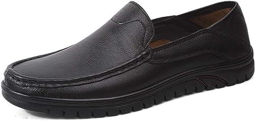 Chaussures de mode, Chaussures richelieu pour hommes Slip on on on Style Chaussures formelles en cuir OX Bout rond Mocassins à bouts bas (creux facultatif) Chaussures de personnalité, chaussures Oxford 22e