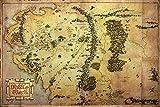 Der Hobbit PP32960 Poster Karte von Mittelerde