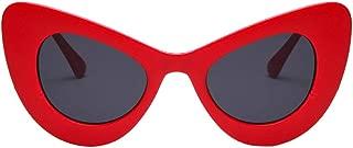 Big Oversized Thick Gothic Vintage Sunglasses Women Classic Cat Eye Plastic Beautyfine