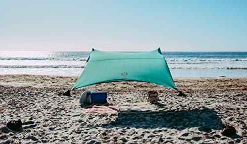 Neso Zelte Strand Zelt mit Sand Anker, Portable Baldachin Sunshade - 2,1m x 2,1m - Patentierte verstärkte Ecken (Color) (Waldgrün)