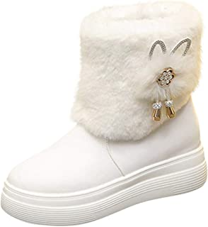 Women Winter Warm Boots, Ladies Solid Round Toe Thick Bottom Ankle Short Boots Snow Boots