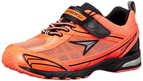 [シュンソク] スニーカー 運動靴 防水 軽量 17~26cm 2E キッズ 男の子 女の子 SJJ 4910 オレンジ 21.5 cm