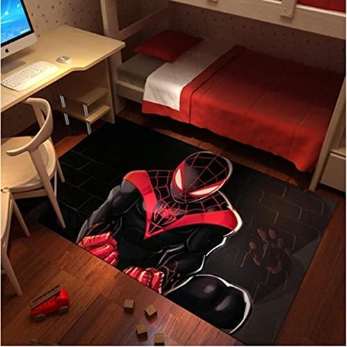 Tapis Spiderman, Tapis de Sol Marvel Spider Hero, Tapis de décoration intérieure antidérapant 120x200cm