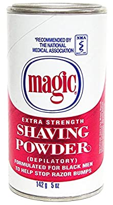 Original Magic (depilatory) No Razor Shaving Powder 127gm Stops Razor Bumps Extra Strength - Red from softsheen carson