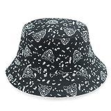 kyprx Frühling und Herbst Winter Freizeit Plaid Pattern Print Fischer Hut Stil 13 Adult Size Code Geeignet für 56-58CM
