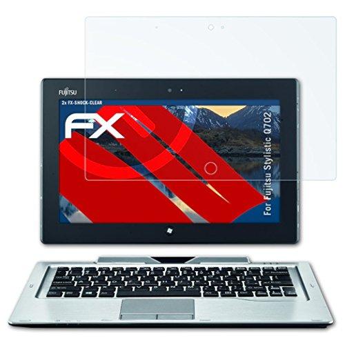 atFolix Schutzfolie kompatibel mit Fujitsu Stylistic Q702 Panzerfolie, ultraklare & stoßdämpfende FX Folie (2X)