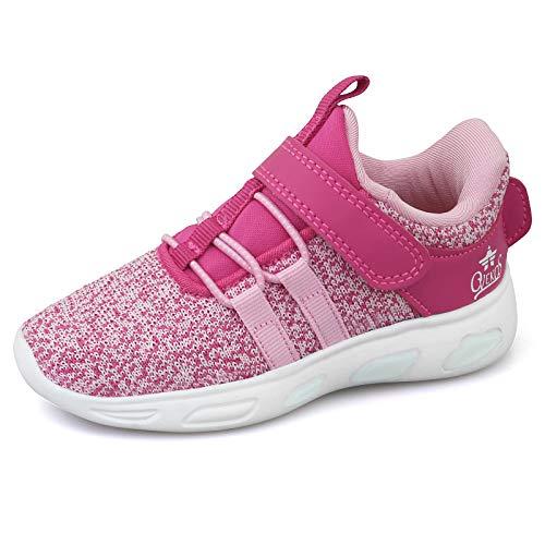 Minbei Baby loopschoenen meisjes zaalschoenen babysneakers ademende loopschoenen gymschoenen licht schattig, S32 Rose, 26 EU