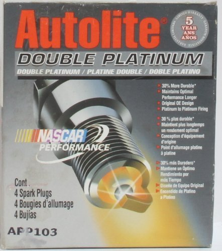 Pack of 4 Autolite APP3923-4PK Double Platinum Spark Plug