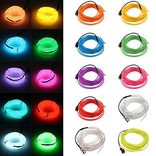DC12V 1M Neon LED EL Draht Kabel Lampe Glow String Licht Tube Dekoration Orange