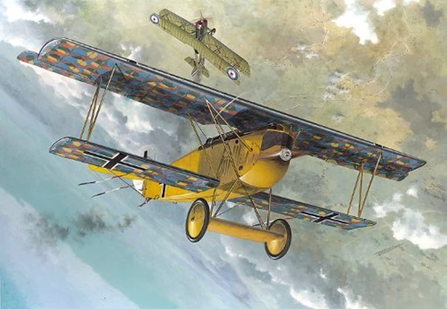 Roden Fokker D.VIIF Late German Fighter Airplane Model Kit by Roden