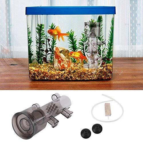 HEEPDD Aquarium Protein Skimmer, Huishoudelijke Vis Tank Oppervlak Olie Skimmer Remover Ophangen Binnen voor Kleine Koraal Aquarium, RS-4003