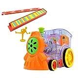 NUOBESTY Domino Train Toy Blocks Pack de Recarga de Juguete con Sonidos Juguete de Aprendizaje Educativo sin Batería para Regalo de Preescolar para Niños Pequeños