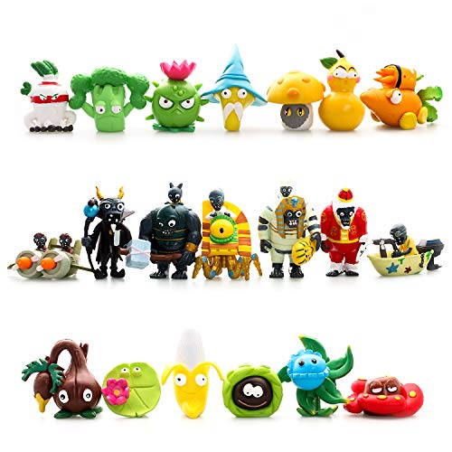 Maylai 20 Piece Plants vs Zombies 2 Figure Toys Set, Mini PVC Giant Zombies Toys, Great Gifts for Kids and Fans,Birthday and Party