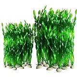 Smoothedo-Pets - Juego de 20 algas artificiales para decoración de acuario, plástico, para acuario, plástico, para decoración de plantas de acuario