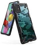 Ringke Fusion-X Compatible con Funda Samsung Galaxy A51 (6,5 Pulgadas), No para Galaxy A51 5G ** Militar Rigida Carcasa Parachoque TPU Funda Negra - Camo Black (Camuflaje)