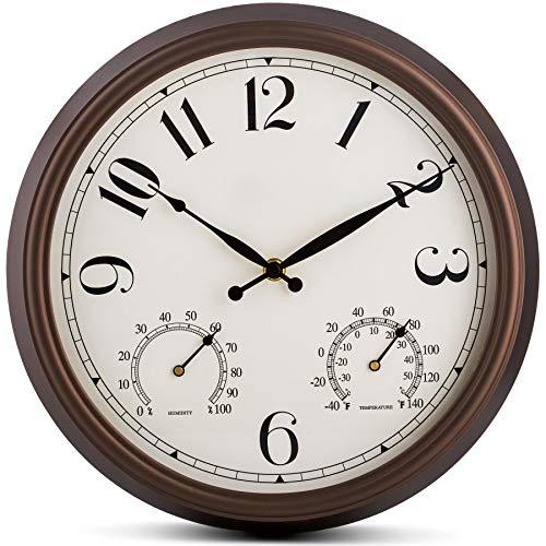 Relojes De Pared Con Termometro E Higrometro  marca Bernhard Products