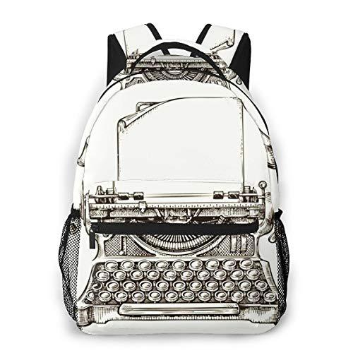 Laptop Rucksack Schulrucksack Schreibmaschine Schreibmaschine, 14 Zoll Reise Daypack Wasserdicht für Arbeit Business Schule Männer Frauen