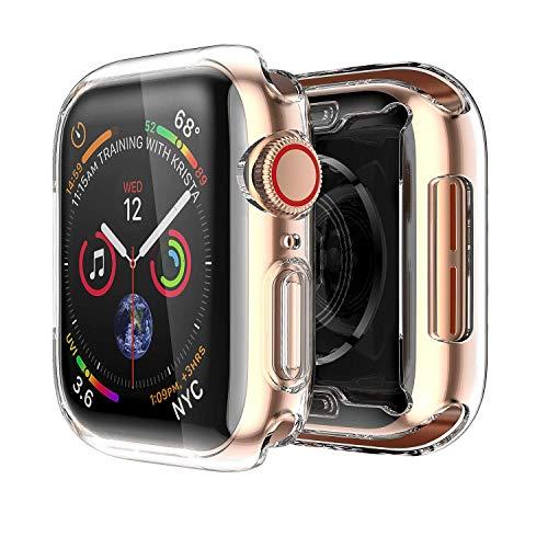 AVANA Apple Watch 4/5 Hülle 44mm Displayschutz Weiche Silikon TPU Abdeckung iWatch Cover Schutz Clear Slim Case Allround Schutzhülle für Apple Watch Series 4 / Series 5 (44mm) - Transparent