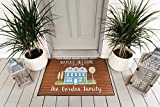 Customized Non-Slip Welcome Mat for Front Door, Outdoor and Indoor Personalized Rug, Home Decoration, Wedding, Anniversary, and Housewarming Gift (Gordon Design, Medium Size 24' x 18')