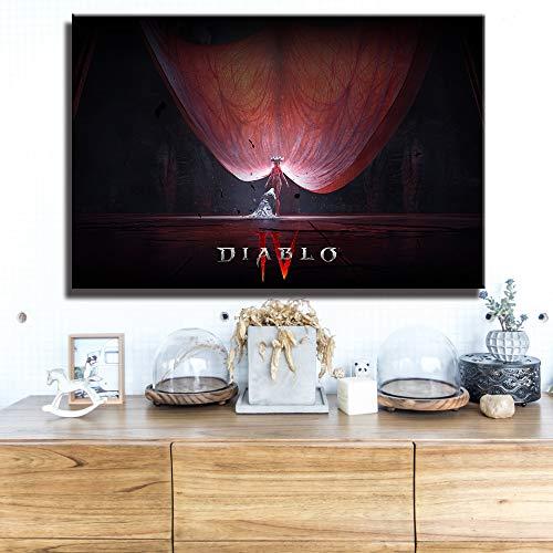 Leinwandbilder Diablo Iv Hd-Spielplakat Lilith Dormitory Home Decor Apartment Dekoration Malerei Schlafzimmer Wandaufkleber Leinwand Poster Gemälde Mixtiles (Modern Bilder Wandbild 50X70Cm),Wkh-819