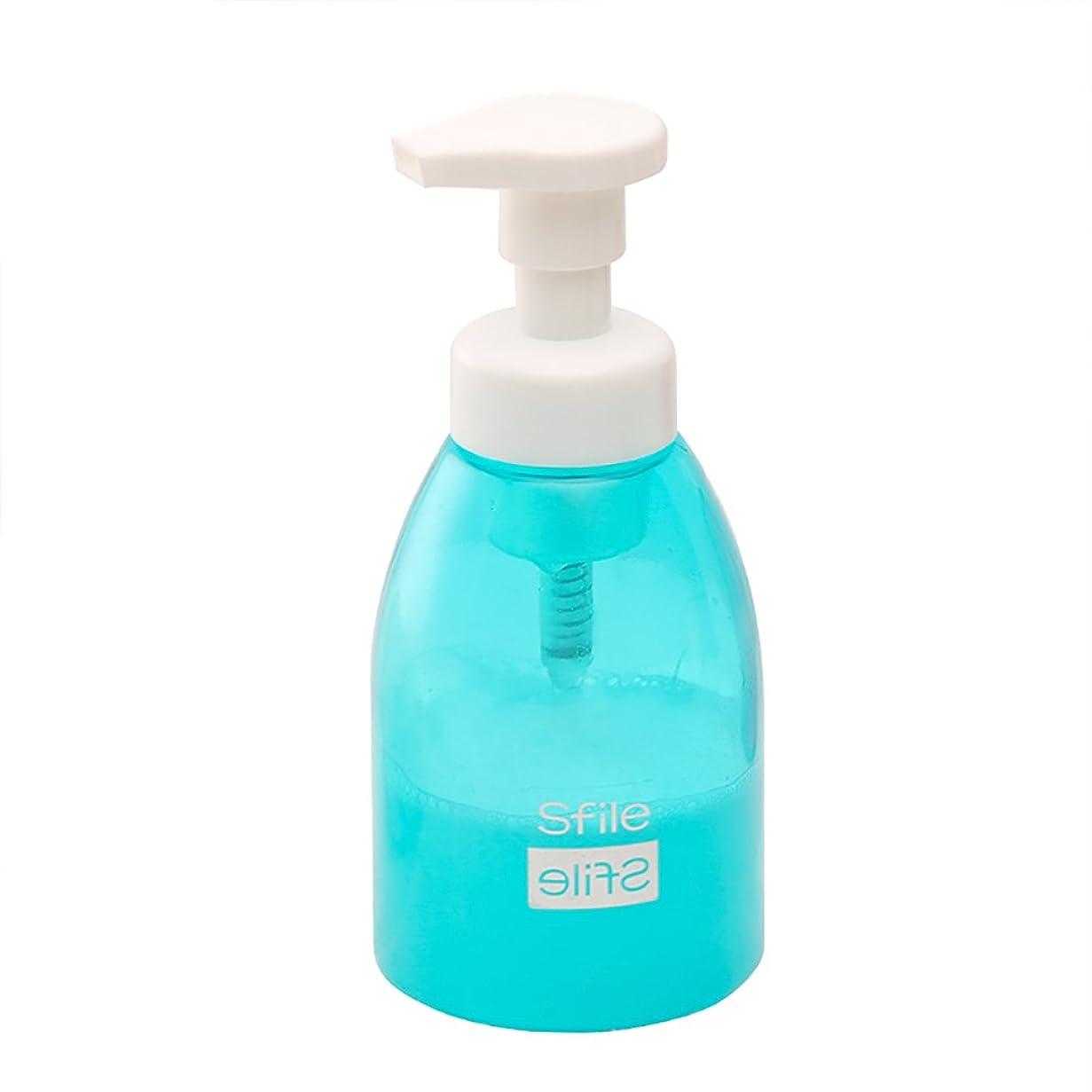 母性沿ってキャロライン泡立てボトル/ビン/コップ 洗顔用 泡立て器 洗顔フォーム 洗顔ネット 2色 (ブルー)