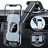 TORRAS Car Phone Holder Mount, Latest [Military-Grade] 3 in 1 Cell Phone Holder for Car Dashboard Windshield Air Vent, Compatible with iPhone 12 11 Pro Max SE XS XR 8 Plus Galaxy S20 Note 20 Ultra