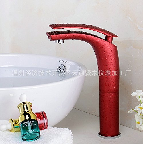 Maifeini Dibujo giratorio de 360 grados, chapado en cromo frío y caliente, Cascada de boquilla LED de plata, Grifo de lavabo de galvanoplastia de múltiples capas