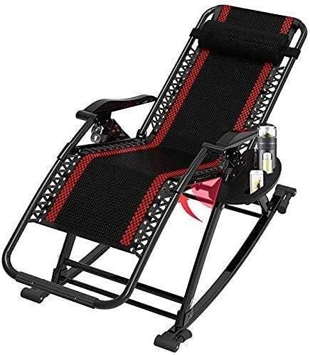 Zero Gravity - Silla reclinable plegable con tumbona reclinable, plegable con gravedad cero, silla de gravedad cero, silla de alta resistencia, tumbona ajustable para jardín, playa, césped, natación