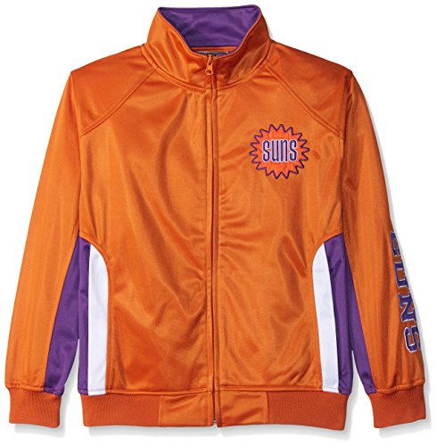 Profile Big & Tall NBA Phoenix Suns Tricot Track Jacket with Logo WordMark, Medium, Dark Orange