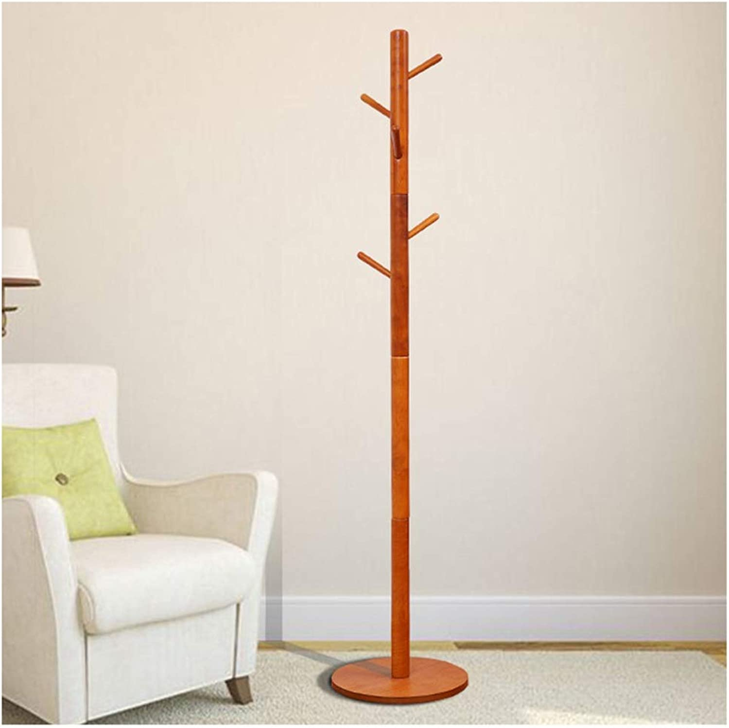 XIAOLONG Standing Coat Rack Sturdy and Tall Hallway Hat and Coat Stand - with Integrated Umbrella Walking Stick Holder Bedroom Hallway -45