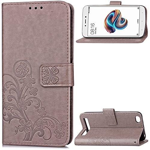 Hülle für Xiaomi Redmi 5A Hülle Handyhülle [Standfunktion] [Kartenfach] [Magnetverschluss] Tasche Etui Schutzhülle lederhülle klapphülle für Xiaomi Redmi 5A - JESD052125 Grau
