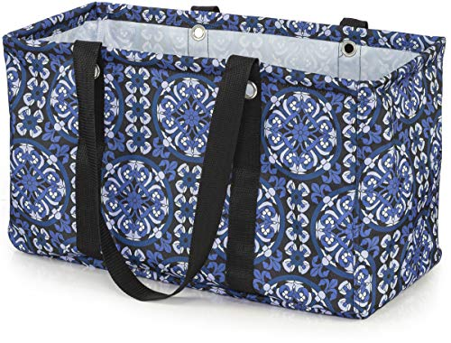 VP Home Jumbo Open Top Tote Bag (Mosaic Patchwork)