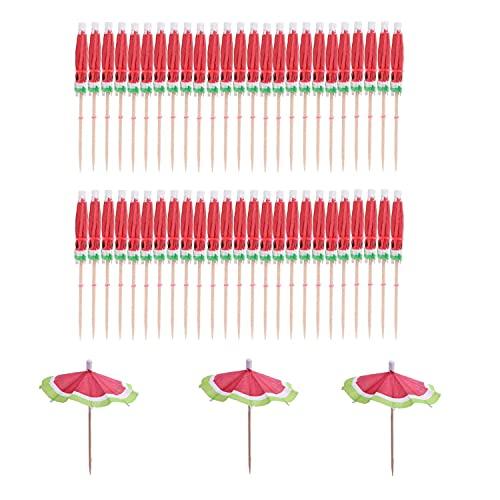 Paraguas de cóctel, 50 Paraguas de papel Palos de cóctel Parasoles Decoraciones para bebidas de cóctel Fiesta en la playa Paraguas de papel, para cócteles Bebidas tropicales Etiqueta frutas Etiqueta.