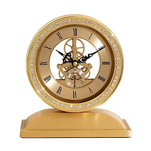 Xiaokeai RASS Silent Table Reloj MECÁNICO Perspectiva Movimiento Moda DE MODELA DE Manera DE Mantel Reloj DE Mantel RELOUM Numeral DE Reloj