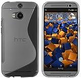 mumbi Hülle kompatibel mit HTC One M8 / M8s Handy Case Handyhülle, transparent schwarz