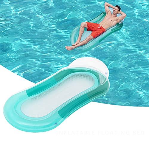 Sayiant - amaca galleggiante per piscina, galleggiante, per piscina, lettino ad aria, divano, per estate, all'aperto, oceano, lago e adulti (verde)